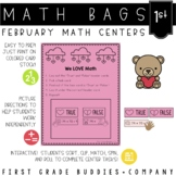 Math Bags for 1st Grade: Valentine's Day Version! (10 Math Centers)