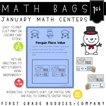 Winter Activities | Math Centers | Math Bags | 1st Grade
