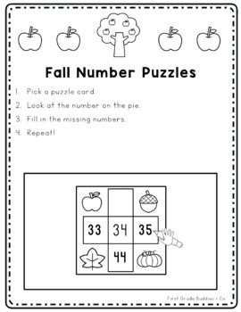 Math Bags for 2nd Grade: Fall Version! (10 Fall Themed Math Centers)