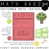 Math Bags for 2nd Grade: Fall Version! (10 Fall Themed Mat