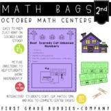 Math Bags for 2nd Grade: Halloween Version! (10 Halloween