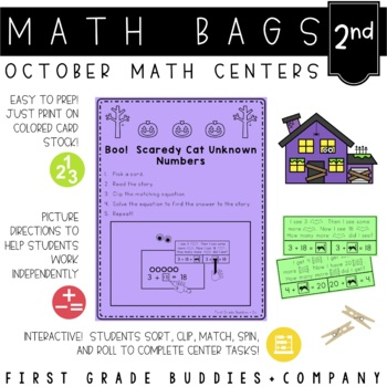 Math Bags for 2nd Grade: Halloween Version! (10 Halloween