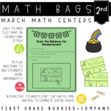 St. Patrick's Day Math Bags for 2nd Grade : 10 Math Centers