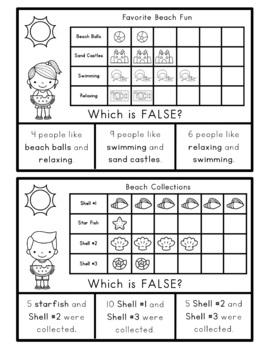 Math Bags for 2nd Grade: Summer Version! (10 Summer Themed Math Centers)