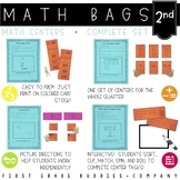 Math Bags for 2nd Grade   Math Centers for Collaborative and Indpendent Use