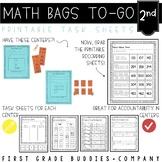 Math Bags for 2nd Grade: To-Go {40  Printable, No Prep Com