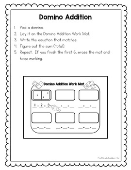 Math Bags for 1st Grade Set 1 (10 Common Core Aligned Math Centers)