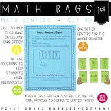 Math Bags for 1st Grade Set 2 (10 Common Core Aligned Math