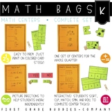Math Bags for Kindergarten | Math Centers for Collaborative and Indpendent Use