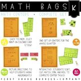 Math Bags for Kindergarten   Math Centers for Collaborativ