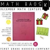 Math Bags for Kindergarten: Christmas Version! (10 Christm