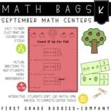 Math Bags for Kindergarten: Fall Version! (10 Fall Themed