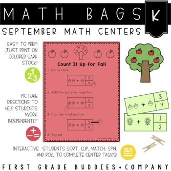 Math Bags for Kindergarten: Fall Version! (10 Fall Themed
