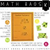 Math Bags for Kindergarten Set 2 (12 Common Core Aligned M