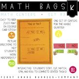 Math Bags for Kindergarten Set 3 (12 Common Core Aligned M