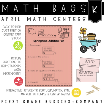Math Bags for Kindergarten: Spring Version! (10 Spring Themed Math Centers)