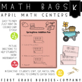 Spring Math Bags for Kindergarten: 10 Math Centers for Spring Activities