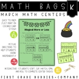 St. Patrick's Day Math Bags for Kindergarten: 10 Math Centers