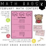 Math Bags for Kindergarten: Valentine Version! (10 Themed Math Centers)