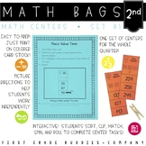 Math Bags for 2nd Grade Set 1 (10 Common Core Aligned Math Centers)