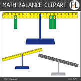 Math Balance Clipart - Moveable Pieces