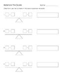Math- Balance The Scale, Equality