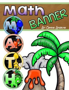 Math Banner Classroom Decoration Bulletin Board Dinosaur Theme