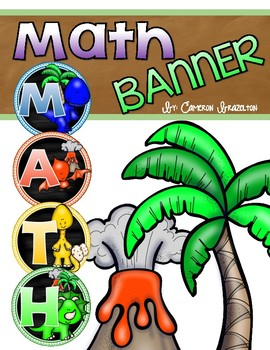 Math Banner Classroom Decoration Bulletin Board Dinosaur Theme