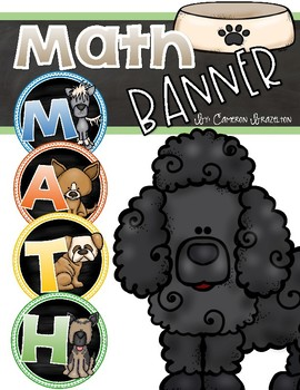 Math Banner Classroom Decoration Bulletin Board Dog Theme