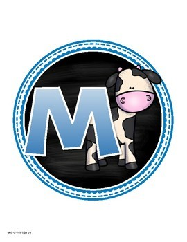 Math Banner Classroom Decoration Bulletin Board Farm Animals Theme