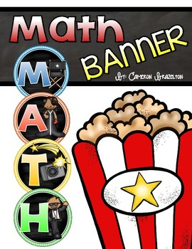 Math Banner Classroom Decoration Bulletin Board Hollywood Movies Theme