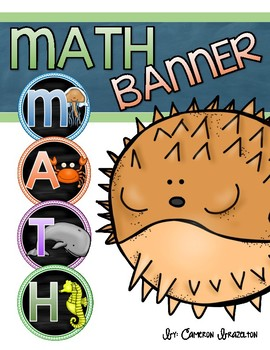 Math Banner Classroom Decoration Bulletin Board Ocean Underwater Theme