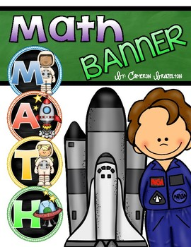 Math Banner Classroom Decoration Bulletin Board Outer Space Theme