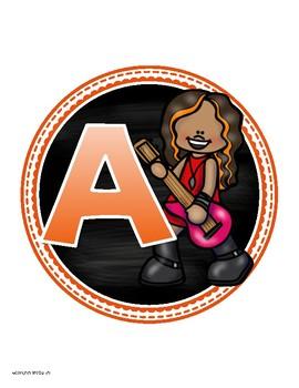 Math Banner Classroom Decoration Bulletin Board Rockstar Rock n' Roll Theme