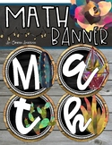 Math Banner Classroom Decoration Bulletin Board Shiplap and Succulents Theme