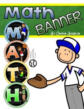 Math Banner Classroom Decoration Bulletin Board Sports Theme