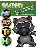 Math Banner Classroom Decoration Bulletin Board Woodland Animals Forest Theme