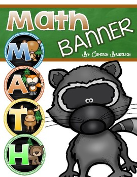 Math Banner Classroom Decoration Bulletin Board Woodland Animals Forest Theme