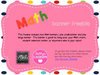Math Banner Freebie