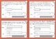 Math Bar Modeling Task Cards: Addition and Subtraction (Constant Total) Packet 2