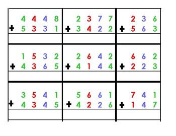 Math--Base 10 Blocks Addition Problems