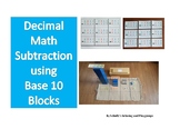 Math--Base 10 Blocks Subtraction Problems