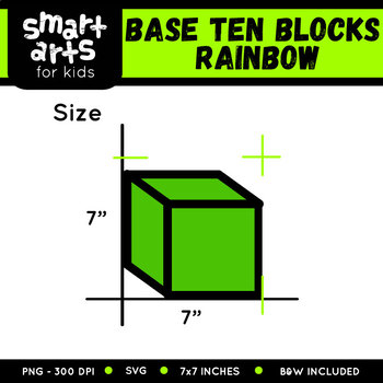 Math Base Ten Blocks Rainbow Clip Art