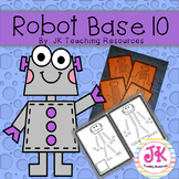 Math Base Ten Robots! Units (ones), Rods (tens) & Flats (hundreds)