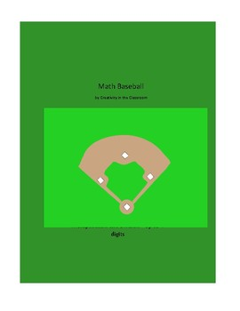 Math Baseball Game - Multiplication and Division - Up to 4 Digits