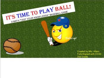 Math Baseball Game SMARTBOARD 2nd Grade Common Core ~ SUPE