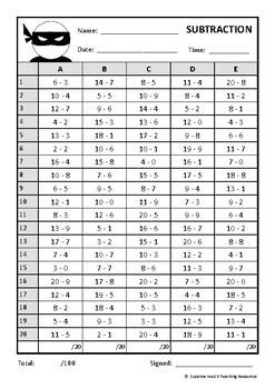 Math Basic Fact Challenge – 'Math Ninja'