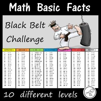Math Basic Facts – BLACK BELT CHALLENGE