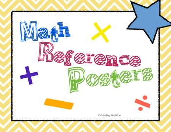 Math Basic Facts Reference Posters