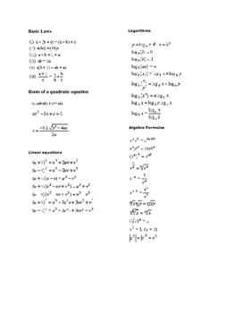 Math Basic Laws